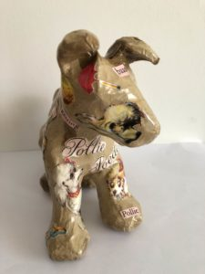Decoupage Dog front
