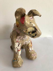 Decoupage Dog front